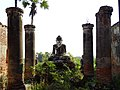Buddha Figure and Pillars - Daw Gyan Paya - Inwa (Ava) - Outside Mandalay - Myanmar (Burma) - 02 (11996326023).jpg