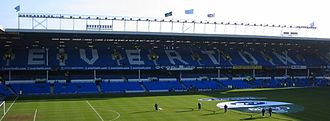 Archibald Leitch - The double-decker 1926 Bullens Road 'Mauretania' Stand at Goodison Park home of Everton FC