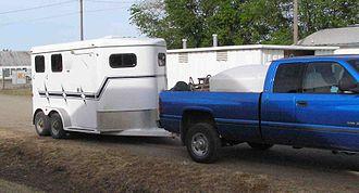Horse trailer - A bumper-pull horse trailer