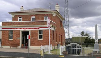 Bundarra, New South Wales - Former Post office and war memorial