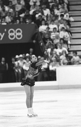 1988 Winter Olympics - Katarina Witt won gold in women's figure skating