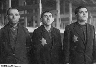 Łódź Ghetto - Jewish prisoners of the Gestapo KZ Radogoszcz in Łódź, 1940
