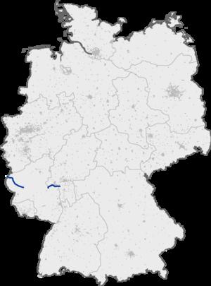 Bundesautobahn 60 - Image: Bundesautobahn 60 map