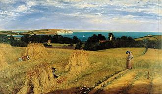 Richard Burchett - View across Sandown Bay, Isle of Wight probably of 1855, Victoria and Albert Museum.