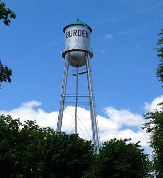Burden, Kansas - Burden water tower (2015)