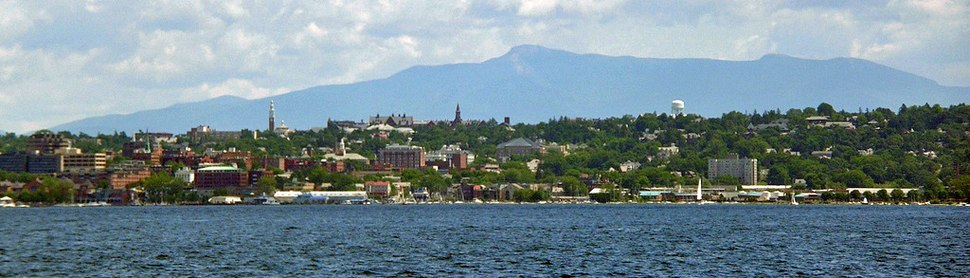Burlington vermont skyline
