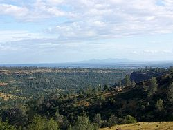 Butte County in 2005, with a view of the Sutter Buttes in the background