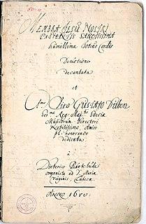 <i>Membra Jesu Nostri</i> cycle of cantatas by Buxtehude