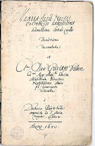 Membra Jesu Nostri - Title page