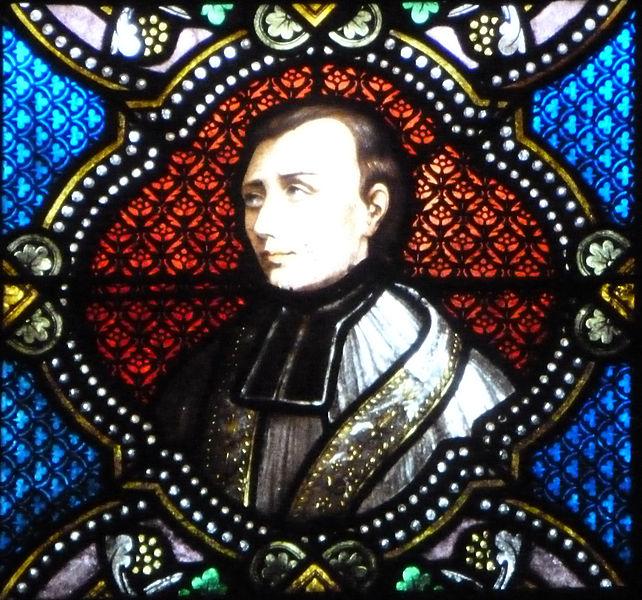Médaillon d'un vitrail représentant le bienheureux Jean-Martin Moye.