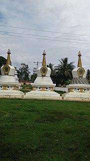 Bylakuppe Town in Karnataka, India