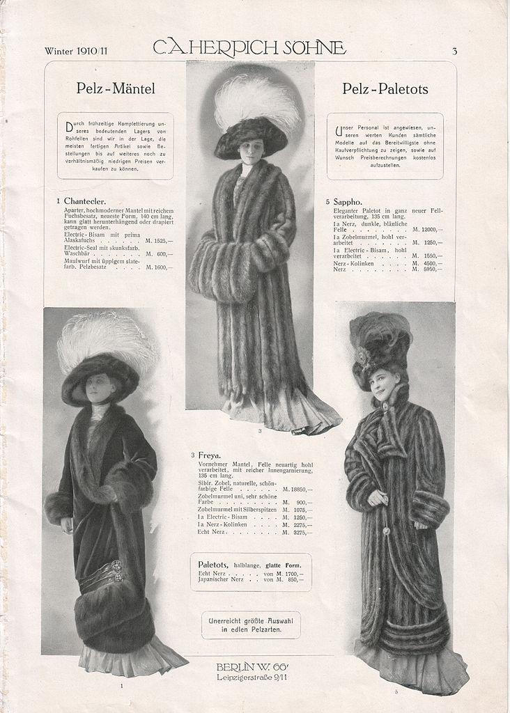 file c a herpich s�hne, berlin, modewaren 1910 (prospekt)03 jpg  Kleidung Mntel C 10_24 #2