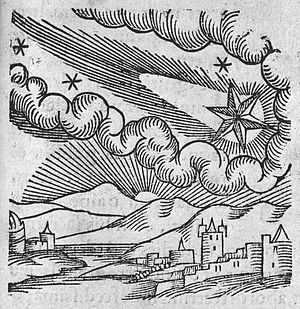 C. Lycosthenes, 1340 comet in sky and plague at Florence Wellcome L0005342.jpg