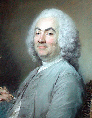 Laurent Cars - Portrait of Laurent Cars by Jean-Baptiste Perronneau, pastel, 1745, now at the Louvre.