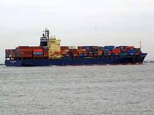 CMA CGM Turkey 9152856 p1 approaching Port of Rotterdam, Holland 04-Mar-2007.jpg