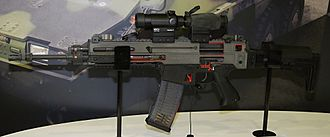 CZ 805 BREN - CZ 805 BREN A1 cutaway with Meopta MeoRedT and MeoMag 3 sights