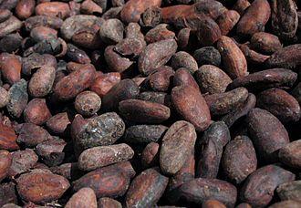 Chocolate liqueur - Cacao beans.