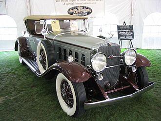 Cadillac V-16 - Image: Cadillac V 16 Roadster 1930