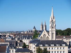 Français : vue de Caen (Calvados, Basse-Norman...