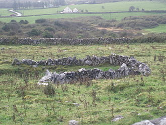 Kilcorney, County Clare - Image: Caherconnell stone fort outside ruins