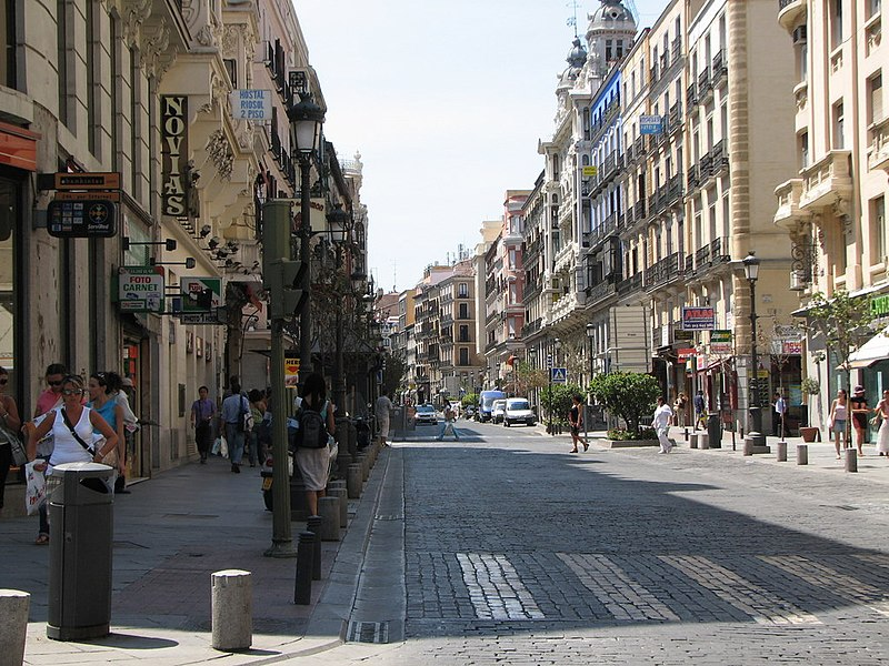 file calle mayor madrid wikimedia commons