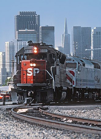 Peninsula Commute - Image: Caltrain Southern Pacific Commuter Trains by Roger Puta (30824831575)