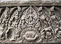 Cambogia, architrave con visnu caturbhuja, da bayon, stile di bayon, 1190-1210 ca. 02.JPG