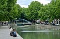 Canal and lock, Paris 29 May 2014.jpg