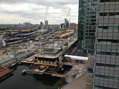 Canary Wharf Crossrail Station August 2013.jpg