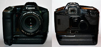 Canon EOS-1 - The EOS-1 with the PB-E1 Power Drive Booster