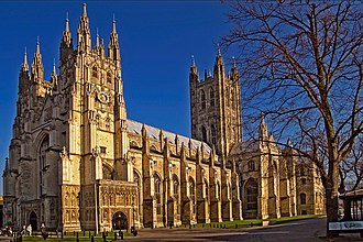 Canterbury Cathedral - Cathedral from the city entrance