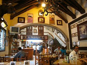 Cantina - Interior of cantina in Coyoacan, Mexico City