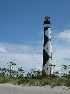 National Register of Historic Places listings in Carteret County, North Carolina - Image: Cape Lookout Lighthouse