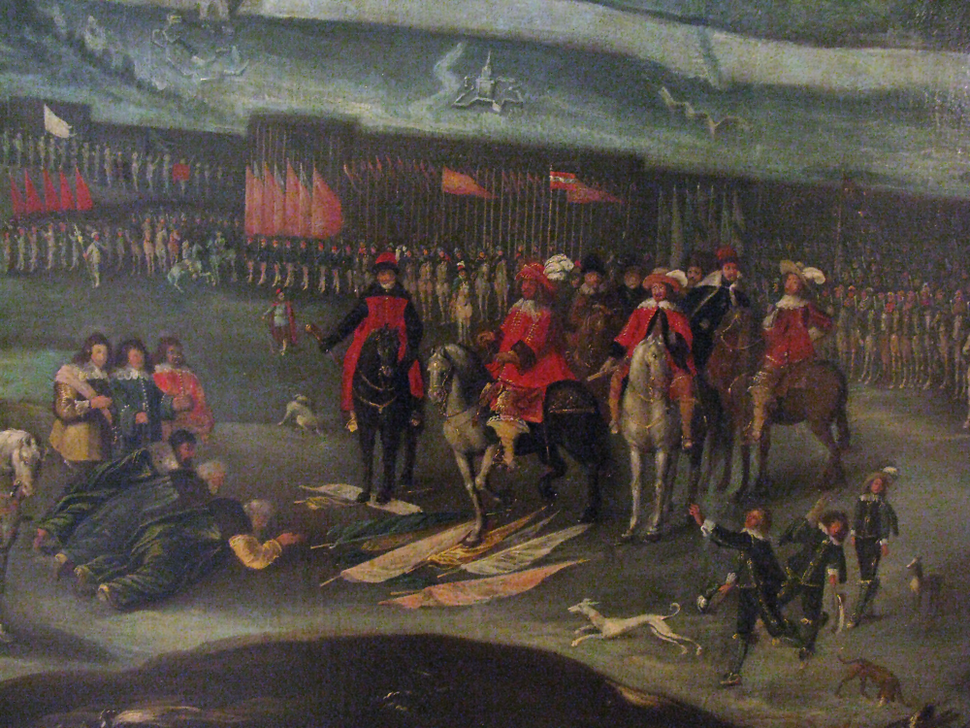 Capitulation of Russian garrison of Smolensk before Vladislaus IV Vasa of Poland 1634