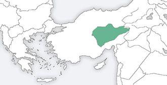 Cappadocian Greek - Original Cappadocian homeland