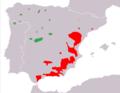 Capra pyrenaica subspecies range map.png