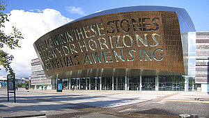 The Wales Millennium Centre, Cardiff, Wales
