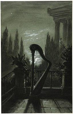 Carl Gustav Carus - Allegorie der Musik (Harfe im Mondschein)