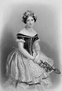 Carlotta Grisi in the title role of Giselle, 1842.jpg