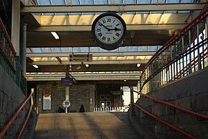 Carnforth railway station - The station clock