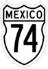 Federal Highway 74 shield