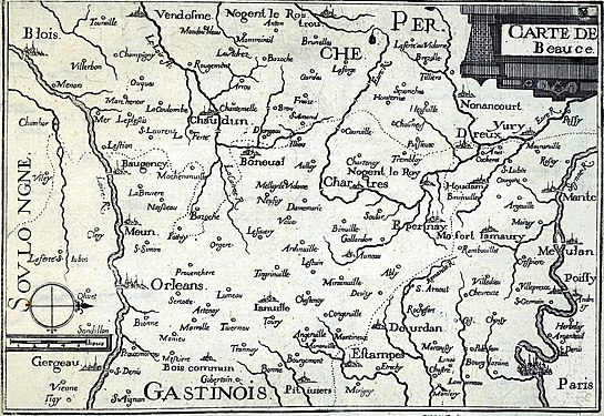 Carte de la Beauce en 1633.