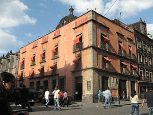 Juan Pablos - Casa de Juan Cromberger in Mexico City, the location of the first printing press in the Americas