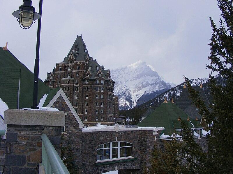 File:Cascade from Banff Springs.JPG