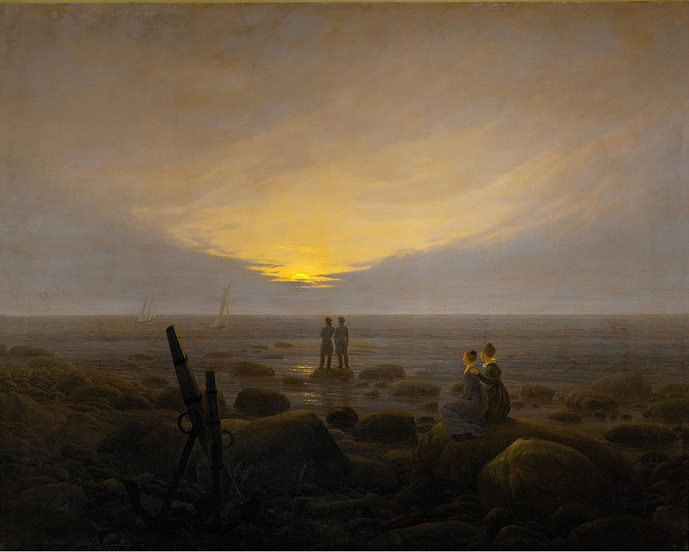 file caspar david friedrich mondaufgang ber dem wikimedia commons. Black Bedroom Furniture Sets. Home Design Ideas
