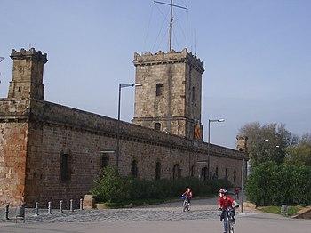 Vista exterior del Castillo de Montjuïc