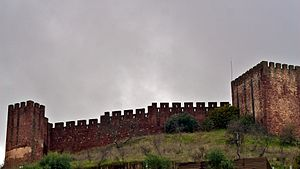 Castle of Silves - The imposing citadel as seen from below in the surrounding district of Silves