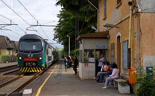 suburban railway line in Milan