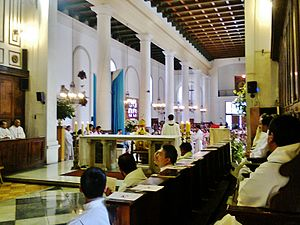 St. Philip's Cathedral, San Felipe - Internal view