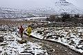 Cavers on the path to Ingleborough - geograph.org.uk - 1712815.jpg